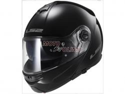 Шлем модуляр LS2 FF325 STROBE SNOW BLACK глянцевый
